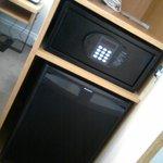 In room safe & mini fridge