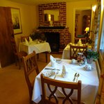 The Guest Dining room with open log fire