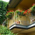 The balcony where I had a breakfast