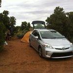 campground Spider Rock