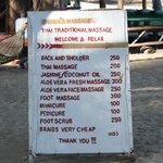 Massage price aug2013