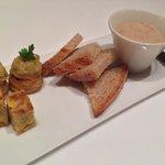 豚のリエット、新玉葱のパイ、南瓜のオムレット
