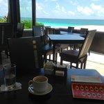 View of Tulum Playa from Mezzanine Restaurant