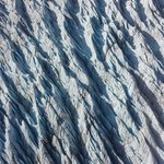Close-up of the ice flow