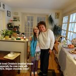 Our granddaughter loved Christine's breakfasts
