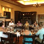 Food and Wine Pairing room - LOVE the round table
