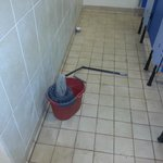 mop to clean the showers
