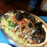 spaghetto allo scoglio! per 3 persone! esagerato