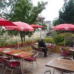 het terras van het hotel