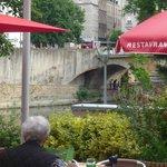 uitzicht vanaf het terras richting centrum Metz