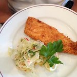 plaice with fennel salad