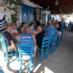 na het duiken nog even naar Agia Fotia, heerlijk gegeten