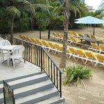 dining/ beach area