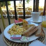 hot breakfast  - omelette