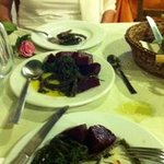 Cold beetroot salad