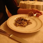 Ravioli with truffles (excellent!)
