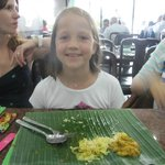 The banana leaf.