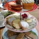 Gluten Free Afternoon Tea (slightly munched ... got too excited before I got the camera out ...