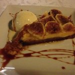 home made fig tart. the figs from a tree in the garden!