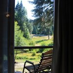 Our morning view with fab rocking chairs