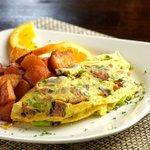 Custom Omelette in Bistro Abrego