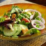 Local Salinas Greens Salad in Bistro Abrego