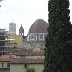 The Duomo and The Baptistery can be seen from one of the windows