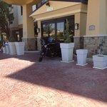 1 each motorcycle in front of door