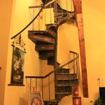 Old stair case in dining room
