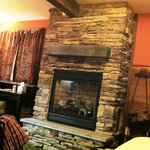 Lovely stone fireplace
