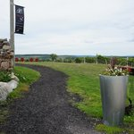 Entrance Path to Coffin Ridge Winery