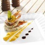 Crab Cake with King Prawns