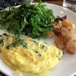 Yummy and healthy kale omelette