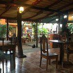 Interior of restaurant.  Almost all dinners in Costa Rica are outdoors