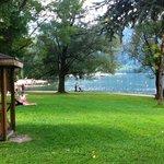 scorcio del lago di levico dall'hotel