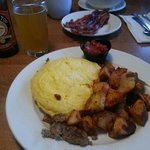 Nom-Nom Plate & a Shock Top for breakfast!