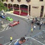 Movie filming at the Hyatt