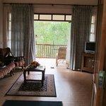 living area of romantic villa
