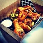 Honey jalapeño wings! Yum!