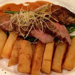 rump steak (with chips instead of fondant potato)..absolutely great.