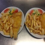 Fresh Cod and chips cooked to order.