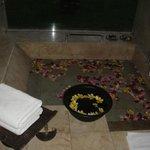 Bath area decorated