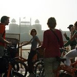View of Red fort (Old Delhi tour)