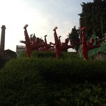 kung fu statues