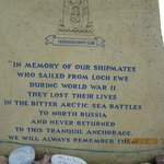 Monument to the seamen who sailed from Poolewe to Murmansk during WW2
