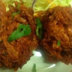 Delicious onion bhajis!