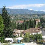 View from pool at Villa Casagrande