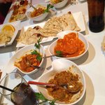 6 Mains, Rice and Naan for 4 people