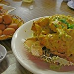 Soft, sweet buns & Crab in salted egg sauce
