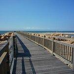 人工海へと渡る桟橋
